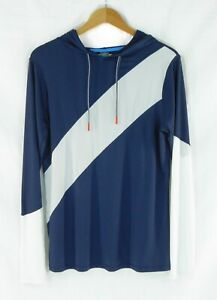 Champion Women's  Active Wear Pull over Hoody Navy White Long Sleeve Large