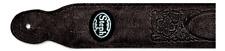 Steph - Sangle cuir pour guitare - Noir - GT-1038