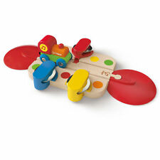 Wooden TAMBOURINE TUNE TRACK Train Toddler Toy HAPE 18 Mths+ Brio Compatible