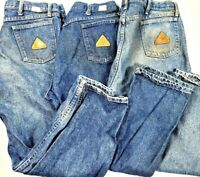 BULWARK FR Flame Retardant Work Blue Jeans Pants Size 40 x 30 FR LOT OF 3