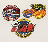 Pinewood Derby Patch Set of 3 - 2013, 2014, 2016 Boy Scouts of America BSA - NEW