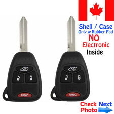 2x New Replacement Keyless Entry Remote Key Fob For Chrysler and Jeep Shell Case