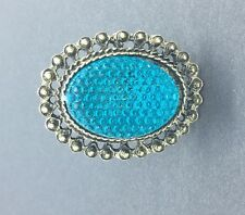 Blue Big Stone Vintage Adjustable Ring Metal Stylish Rhinestone Fashion Retro UK