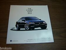 MINT 1998 CADILLAC CATERA THE CADDY THAT ZIGS DEALER SALES BROCHURE (BOX 744)