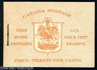 CANADA GEORGE VI POSTAL NOTE UNEXPLODED BOOKLET SG#SB45