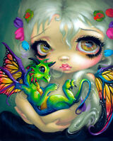 ART PRINT - Darling Dragonling IV by Jasmine Becket-Griffith Gothic Poster 11x14