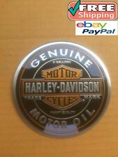 Harley Davidson Badge Motor Oil 5 GALLONS Fuel Tank Logo Just Peel and Stick HD