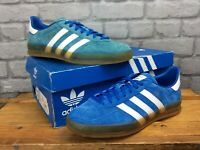 ADIDAS ORIGINALS MENS UK 8 EU 42 GAZELLE INDOOR BLUE SUEDE GUM SOLE TRAINERS EP