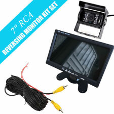 "CAR REAR VIEW KIT FOR 12-24V BUS TRUCK 7"" LCD MONITOR+IR 18 LED REVERSING CAMERA"