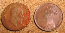 More details for 1887 and 1902 model 1/2 half farthing tokens coins