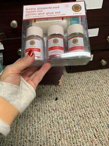 Martha Stewart Frost Gingerbread Tinsel Cut   Glitter Glue Set Unused #39