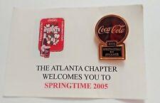 Coca-Cola Springtime in Atlanta 2005 Collectors Club Pin Atlanta Chapter NEW