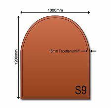 Glasbodenplatte Funkenschutz S9 Bronze 1000 x 1200 mm Kamin Ofen Neu Glas getönt