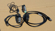 Lot of 3 XLR to 5pin Mini TA5F Lectrosonics Microphone Level Audio Cables 3ft