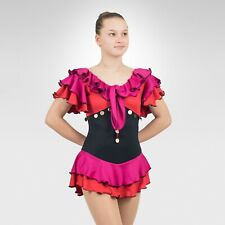 Ice Skating Figure Skating Hot Berry/Red spandex size XSmall Adult