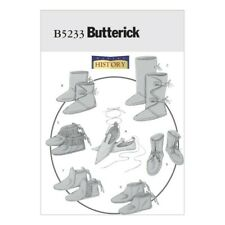 Butterick Sewing Pattern 5233 Historical Footwear Boots Dance Shoes