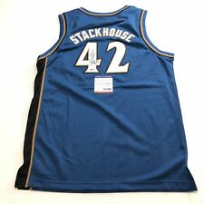 Jerry Stackhouse signed jersey PSA/DNA Washington Wizards Autographed