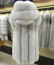 Real Farm nature Fox Fur Vest  Waistcoats Fur Coat Garment Vintage Fur Gilet