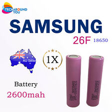 Samsung ICR18650-26F 26F 2600mAh 3.6V Lithium Li-Ion Cell Rechargeable Battery