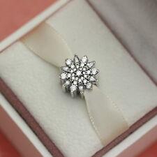 * Authentic Pandora Ice Crystal Clear CZ Bead 791764CZ Snowflake Christmas