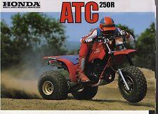 1984 HONDA ATC250RE 2 Page Motorcycle Brochure NOS