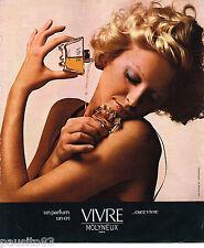 PUBLICITE ADVERTISING 055  1975  MOLYNEUX  parfum VIVRE 2