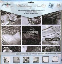 Wedding Pack 12 designer sheets of 12x12 paper by cre8tiv