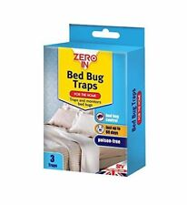 Zero In Bed Bug Traps Mattress Treatment Killer Home Pest Control Pk of 3