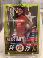 MASON GREENWOOD 2020-21 Topps Rising Star Gold Foil Match Attax Rookie Card RS9