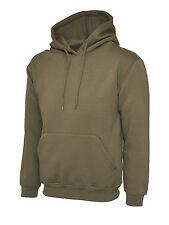 """Uneek Uc508 Olympic Hooded Sweatshirt Unisex Womens Mens Hoodie Jumper Sweater 4xl 54"""" Olive"""