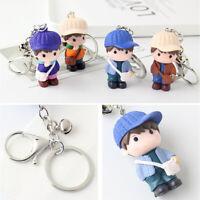 3pcs Cartoon Doll Keychain Creative Metal Keyring Cute Doll Pendant Key Chain