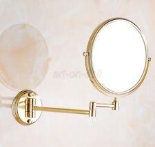 Golden Brass Folding Arm Wall Mount Magnifying Cosmetic Bathroom Mirror aba629