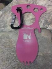 CRKT Eat'n Tool Tactical Spork Spoon Fork Fuchsia Pink Camping Multitool 9100FC