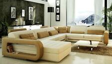 Modern Ecksofa Couch Polster Leder Design Sofa Garnitur Wohnlandschaft  StuttC