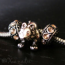 The Lordly Lion European Charm Bead With Birthstone Spacers For Charm Bracelets