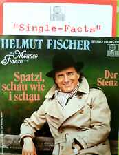 """7"""" 1983 MINT- HELMUT FISCHER : Spatzl schau wie I schau"""