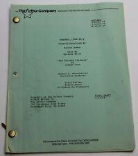 Dragnet * 1989 TV Show Script PILOT EPISODE * Failed Remake with, Jeff Osterhage