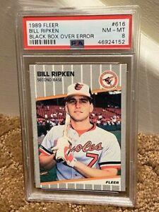 1989 fleer Bill Rikpen Black box PSA 8 #616 CARD NEW CLEAN CASE