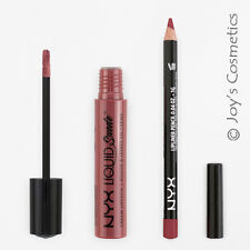 2 NYX Liquid Suede Cream Lipstick 04 Soft Spoken + Slim Lip pencil 828 Ever Set