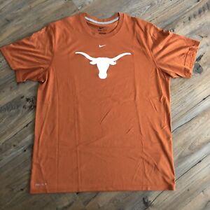 New Men's Nike Dri-Fit T-Shirt - Texas Longhorns - Burnt Orange - Size Large