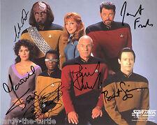 Star Trek: TNG Cast #1  8 x 10 Autograph Reprint Patrick Stewart +5