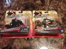 G.I. JOE Retaliation Ninja Speed Cycle + Wheel Blaster Bike lot Sealed