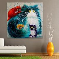 EG_ Multi-Color Cats 5D Crafts Diamond Painting Art DIY Room Wall Decoration Eye