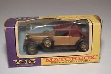 WW 1:43 MATCHBOX YESTERYEAR Y-15 PACKARD VICTORIA 1930 MET. GOLD BROWN NMIB