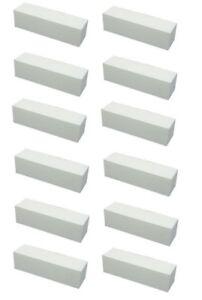 Star Nail Soft White/Polar Block Four Sided Buffer- pack of 12 [grit 240]