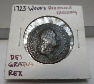 1723 Wood's Hibernia Farthing - DEI GRATIA REX