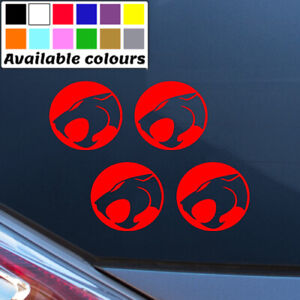 THUNDERCAT LOGO X 4 CAR WINDOW BUMPER STICKER VINYL DECAL