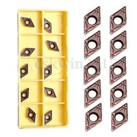 10Pcs DCMT070204 EM YBC205 Carbide Inserts for Carbide Cutter Turning Tool
