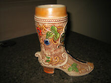 Mannheim Ceramic Shoe Boot Vintage West Germany Beer Stein
