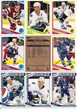 2013-14 OPC O-Pee-Chee Vancouver Canucks Complete Team Set w/ Stickers (24)